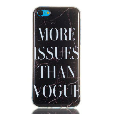 Candy Color Marble Soft TPU Phone Case for iPhone 5C