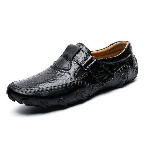 Casual Leather Loafer Shoes Men Soft Comfortable Driving Shoes Men