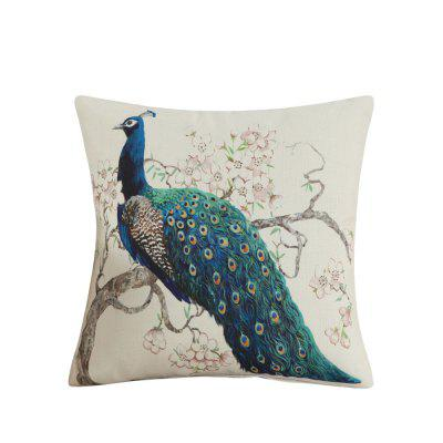 Lovely Peacock Pattern Home Decorative Sofa Cushion Cover Pillow Case