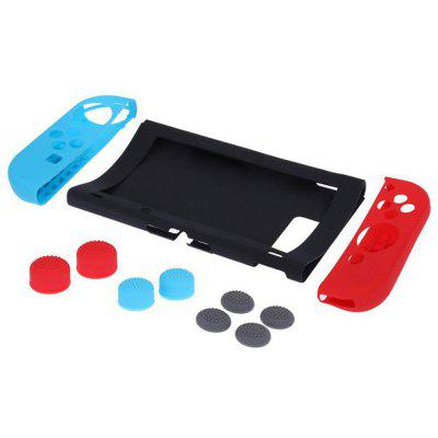 Silicone Case for Nintend Switch NS Console Protective Cover with Stick Grip Cap