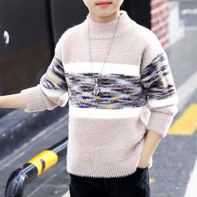 Thicken Boys' Sweaters with Geometric Pattern for Boys' Pullovers