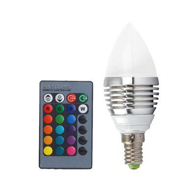 YWXLight E14 LED Candle Home Lighting RGB ampoule et télécommande à 24 touches