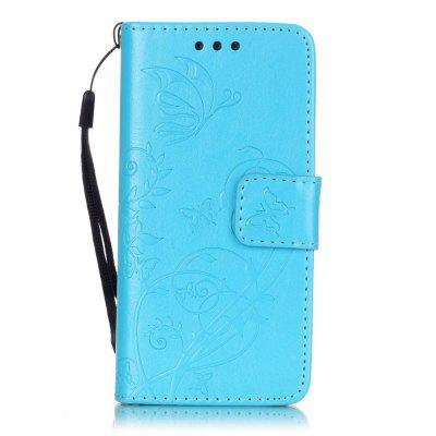 Blue Butterfly Embossing Phone Case for iPod Touch 5/6