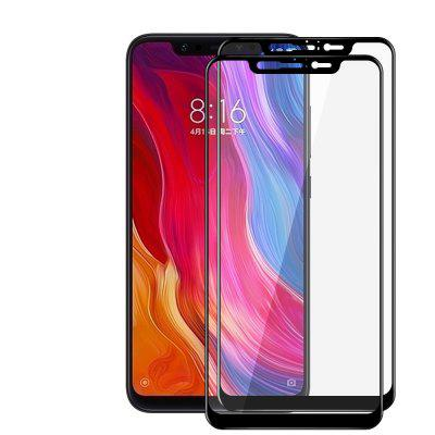 JOFLO 2pcs Full Screen 3D Tempered Glass Protector Film for Xiaomi Mi 8
