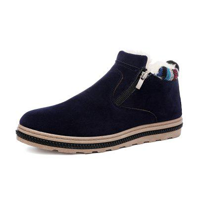 Men Fur Winter Ankle Winter Snow Boots Warm Cotton Shoes
