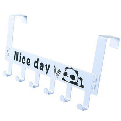 Nail-Free 6-LINK Clothes Hook on Door and Clothes Row Hook in Dormitory