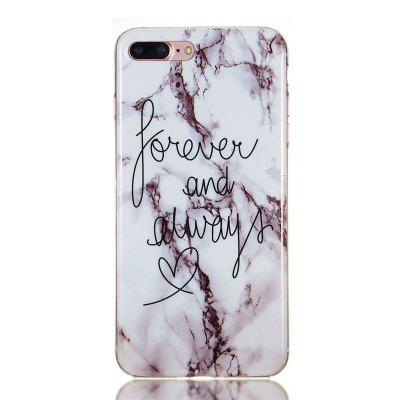 Candy Color Marble Soft TPU Phone Case for iPhone 7 Plus / 8 Plus