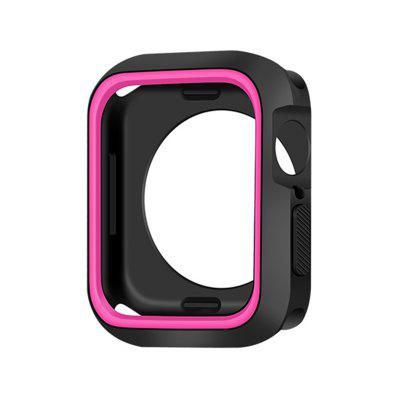 Sports Silicone Cover Frame Protective Case For Apple Watch Series 4 44MM