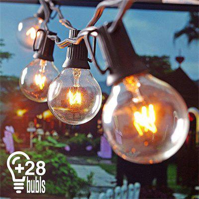 G40 Warm White Lamp String IP44 Waterproof 25 Lamp Head Decorative Festival Lamp