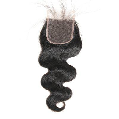 Indian Body Wave Lace Closure Free Part Human Hair Closure
