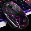 YWYT G816 Cable game mouse mouse a 8 tasti per mouse USB gioco fotoelettrico mouse colo - NERO