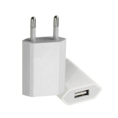 USB Power Adapter EU Plug Wall Travel Charger for iPhone