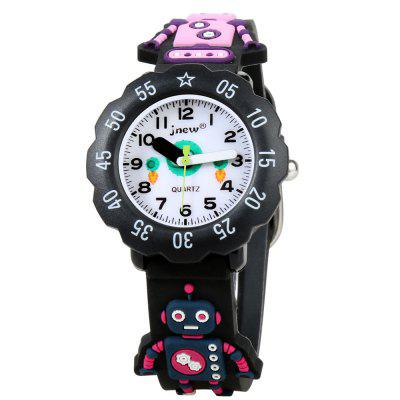 Personality Design Cartoon Robot Silicone Jelly Quartz Watch for Kids