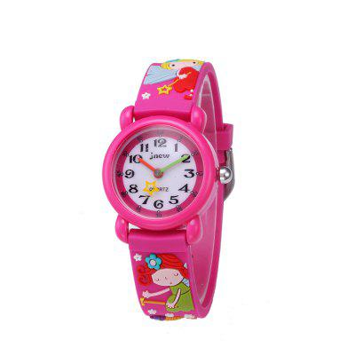 Fairy Cartoon 3D Silicone Waterproof Quartz Watch for Kids