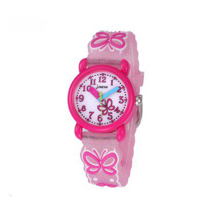 Butterfly Cartoon 3D Silicone Strap Waterproof Quartz Watch for Kids