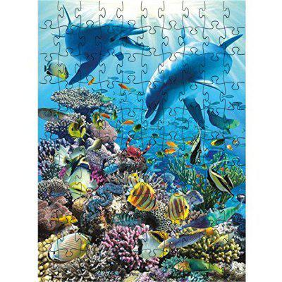 Beautiful Jigsaw Puzzle Color Block Puzzle avec motif de paon imprimé en 3D