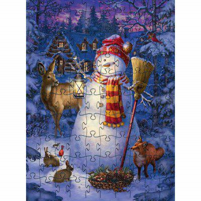 Puzzle 3D Puzzle Paper Snow Man Block Assembly Birthday Toy