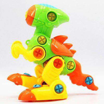 Educational Dinosaur Building Block Gift Toy with One Screwdriver Tool