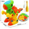 Educational Dinosaur Building Block Gift Toy with One Screwdriver Tool - MULTI
