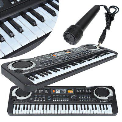 Multifunctional Mini Electronic Piano with Microphone 61 Keys Toy for Children