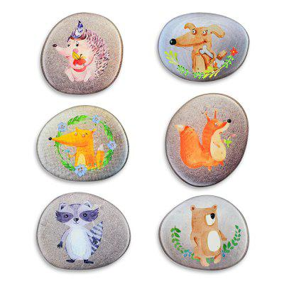 Stone Painted Animal Series Silicone Refrigerator Stickers Whiteboard Stickers