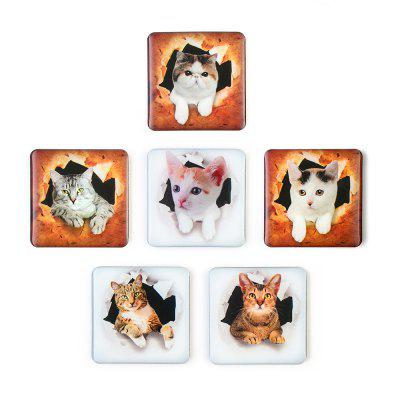 Realistic Cat Series Silicone Refrigerator Stickers Whiteboard Stickers