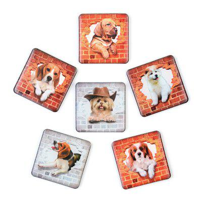Realistic Dog Series Silicone Refrigerator Stickers Whiteboard Stickers