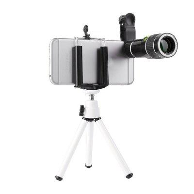 20 Times Mobile Phone Telephoto Telescope Head HD External Camera Lens+Support