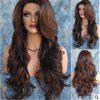 European and American Wigs Long Curly Hair Dyed Rose Net Wig Set - DEEP BROWN