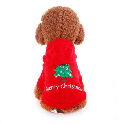 Wool Dog Clothes Dog Coat Christmas Cute Pet Puppy Hooded Warm Coat