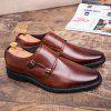 Men'S Leather Casual Shoes Fashion Lace-Up Oxfords Comfortable Split Leather - BROWN