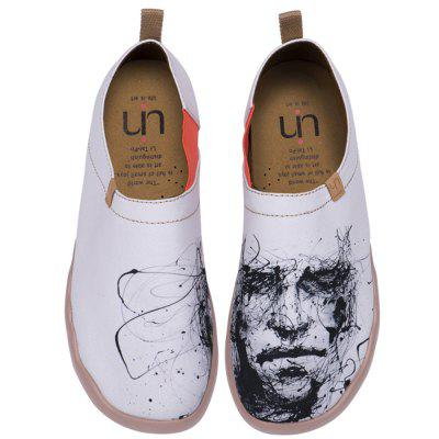 UIN Men's Shoes Silent Man Painted Canvas Slip-On Travel Casual Shoes
