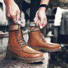 Men Shoes Fashion Soft and Comfortable Breathable Lace Up - LIGHT BROWN