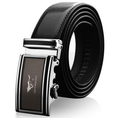 Men'S Belt Business Casual Automatic Buckle Belt