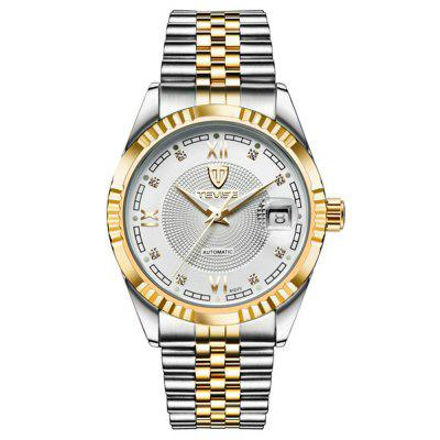 TEVISE Men's Fashion Waterproof Automatic Mechanical Room Gold Ribbon Watch