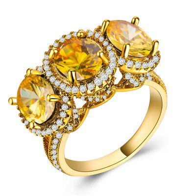 Charhoden Zircon Ring Personalized Ladies Ring Gift Jewelry Ring