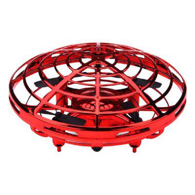 Mini UFO Shape Sensing Drone Induction Four Propellers Aircraft Flexible Shell N