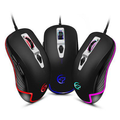 YWYT G818B Cable game mouse four-color breathing light cable game optoelectronic