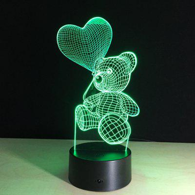 YEDUO The Cartoon Heart Bear  LED Lamp 3D Night Light For Valentine's Day Fremont Buy Ad