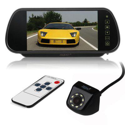 ZIQIAO 7 Inch Color TFT LCD Car Rear-View Stand Security Monitor and Camera Kit