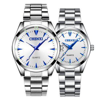 Chenxi Classic Business Leisure Stainless Steel Waterproof Quartz Lovers Watch