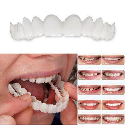 1PCS Reusable Adult Perfect Smile Whitening Denture Fit Flex Cosmetic Teeth