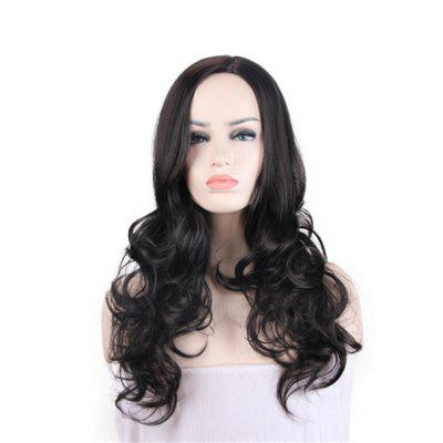 Lady Heat Resistant Synthetic Lace Front Ombre Wigs Long Wave Wig