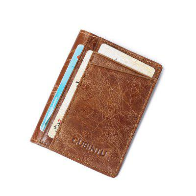 Fashion Bank Card Package Coin Bag Card Holder Leather Men Or Women Wallet