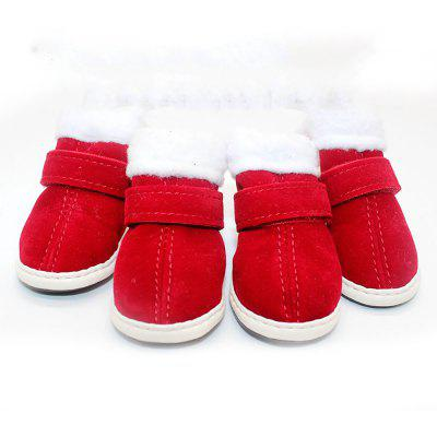 Pet New Year Shoes Warm Plush Non Slip Cotton Boot
