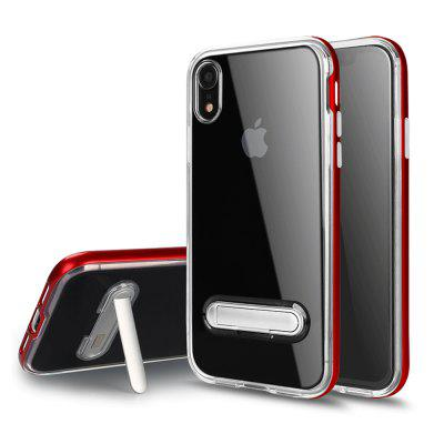 for iPhone XR Phone Cover Transparent Shockproof Case With Stent