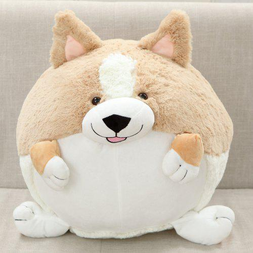 Corgi Stuffed Animal Chubby Puppy Plush Toy Fluffy Adorable Gift Dog Plush Toy