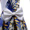 Fashion Flowers Short Sleeve Elegent Princess Dress Printing Children's Clothes - MULTI-A