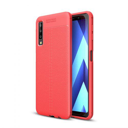 Explosion-Proof TPU Soft Dermatoglyph Back Phone Case For Samsung A750 2018