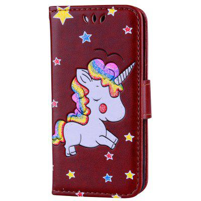 Unicorn For iPod Touch 5 / Touch 6 Case Luxury PU Leather Stand Wallet Flip Cove